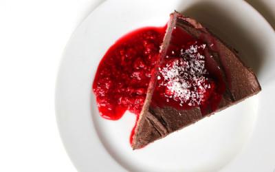 Koko-rýžový koláč s čokoládovým krémem