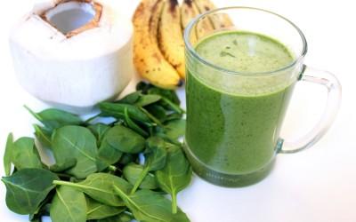 Zelené smoothie s kokosem